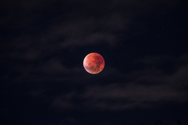 Red moon during lunar eclipse